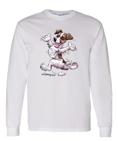 Jack Russell Terrier - Happy Dog - Long Sleeve T-Shirt