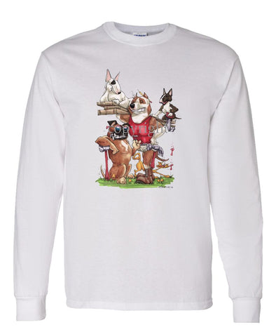 American Staffordshire Terrier - Group Construction - Caricature - Long Sleeve T-Shirt