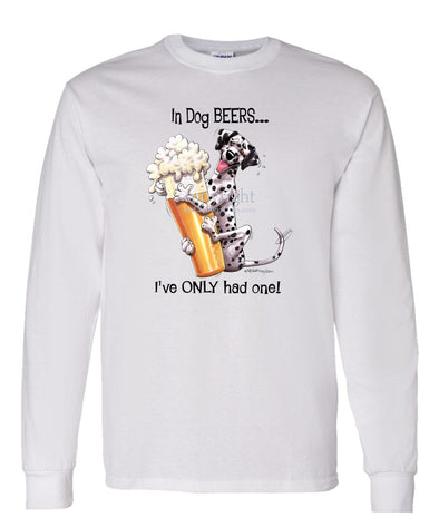 Dalmatian - Dog Beers - Long Sleeve T-Shirt