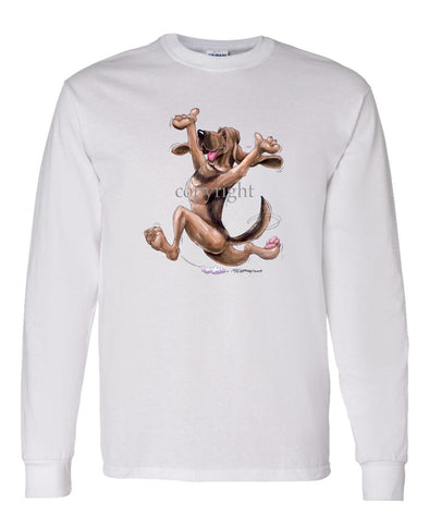 Bloodhound - Happy Dog - Long Sleeve T-Shirt