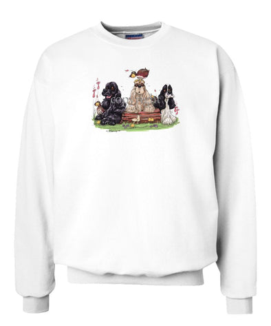 Cocker Spaniel - Group - Caricature - Sweatshirt