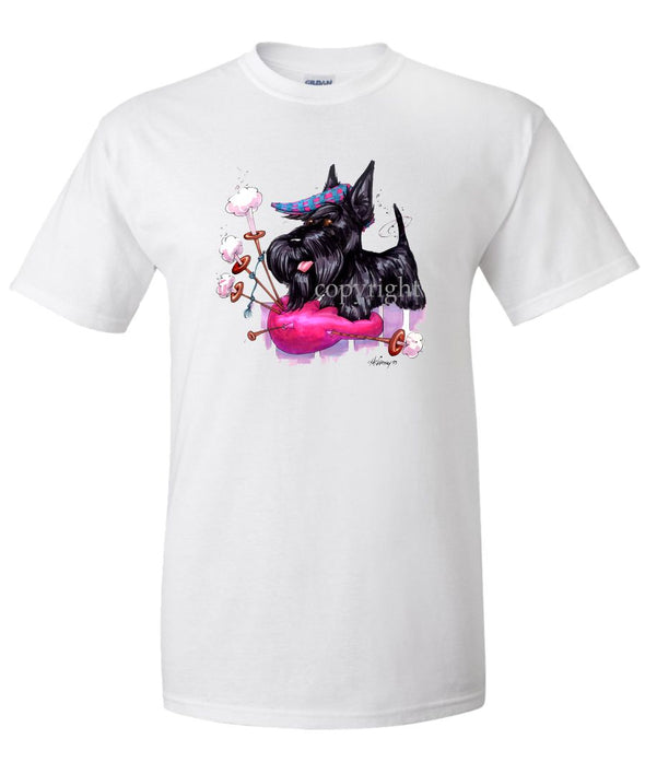 Scottish Terrier - Bagpipe - Caricature - T-Shirt