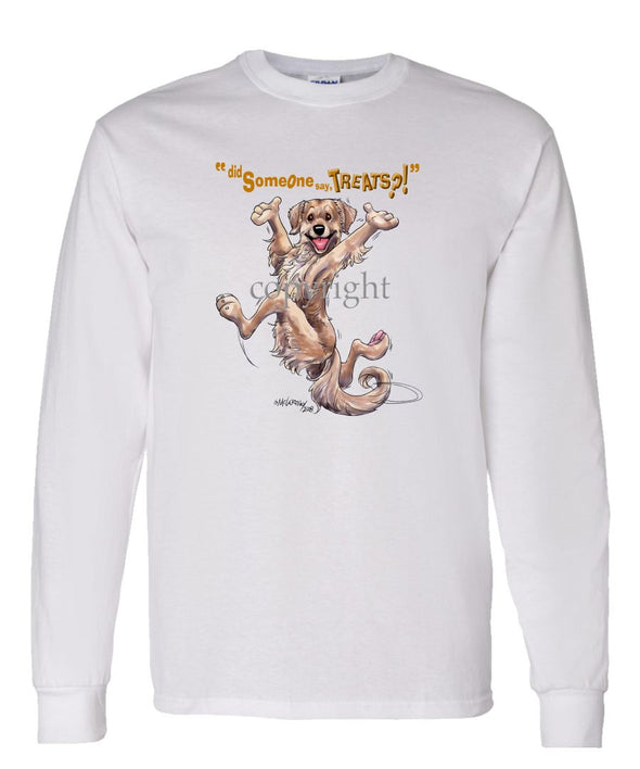 Golden Retriever - Treats - Long Sleeve T-Shirt