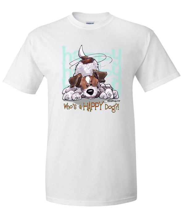 Parson Russell Terrier - Who's A Happy Dog - T-Shirt