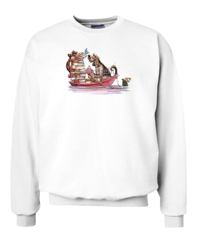 Otterhound - Books In Boat - Mike's Faves - Sweatshirt