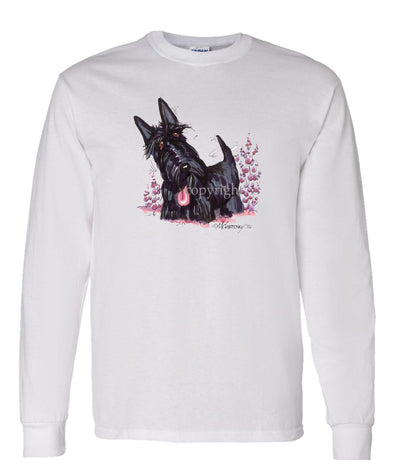 Scottish Terrier - Vintage - Caricature - Long Sleeve T-Shirt