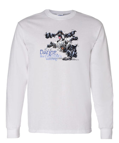 English Cocker Spaniel - Dance Like Everyones Watching - Long Sleeve T-Shirt