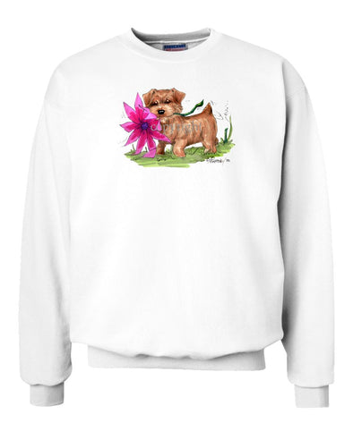 Norfolk Terrier - With Flower - Caricature - Sweatshirt
