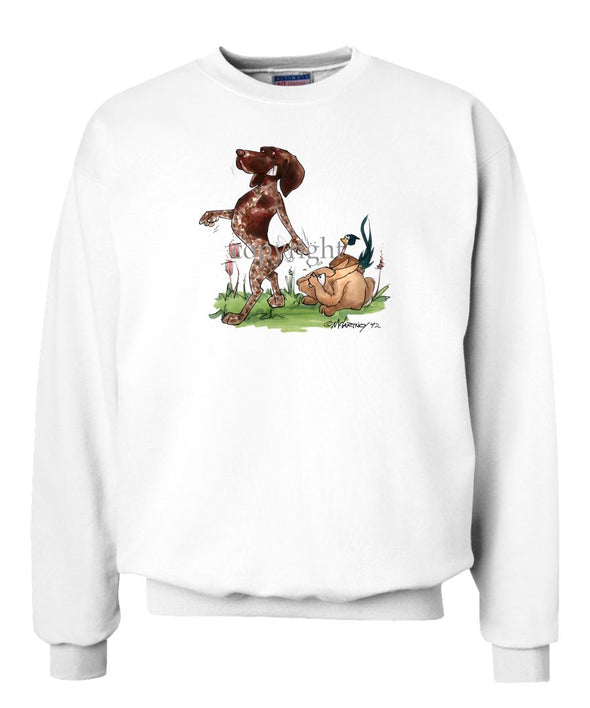 German Shorthaired Pointer - Pointing Pheasant Rabbit - Caricature - Sweatshirt