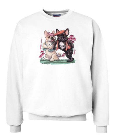 French Bulldog - Group Hats And Vests - Caricature - Sweatshirt