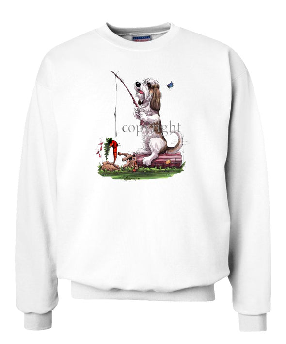 Petit Basset Griffon Vendeen - Fishing With Carrot - Caricature - Sweatshirt
