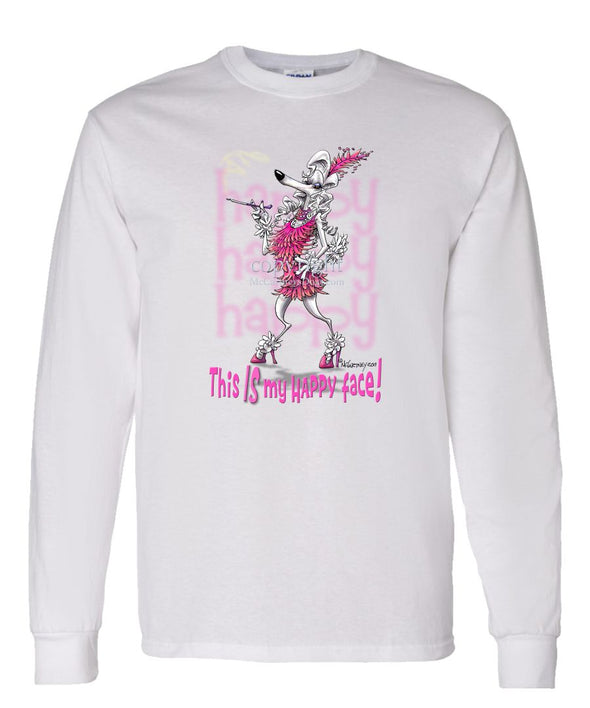 Poodle - 2 - Who's A Happy Dog - Long Sleeve T-Shirt