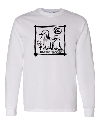 Tibetan Terrier - Cavern Canine - Long Sleeve T-Shirt