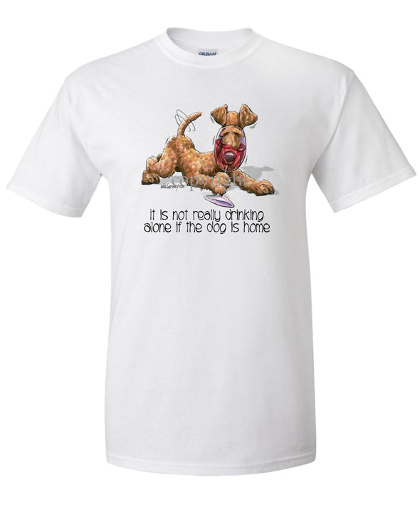 Irish Terrier - It's Not Drinking Alone - T-Shirt