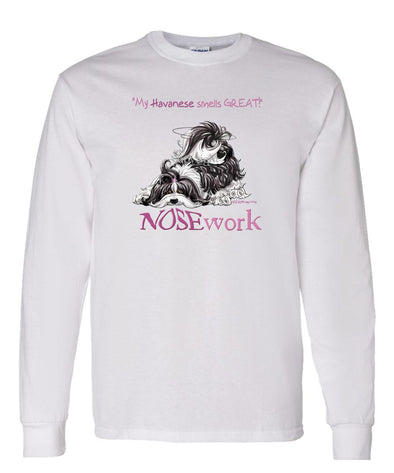 Havanese - Nosework - Long Sleeve T-Shirt