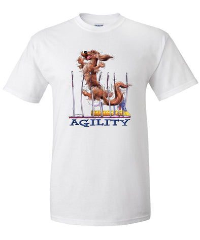 Dachshund  Longhaired - Agility Weave II - T-Shirt