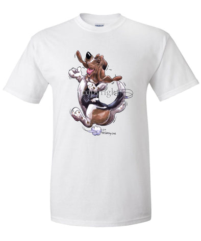 Basset Hound - Happy Dog - T-Shirt