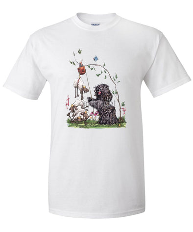 Puli - With Pulley Sheep - Caricature - T-Shirt