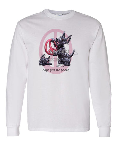 Scottish Terrier - Peace Dogs - Long Sleeve T-Shirt