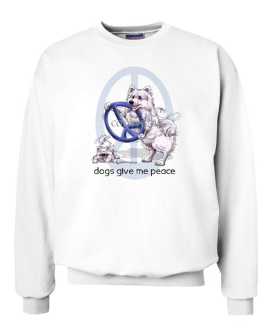 American Eskimo Dog - Peace Dogs - Sweatshirt