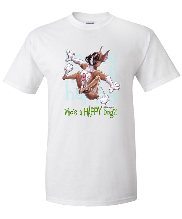 Boxer - Who's A Happy Dog - T-Shirt