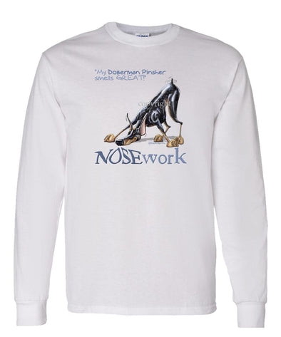 Doberman Pinscher - Nosework - Long Sleeve T-Shirt