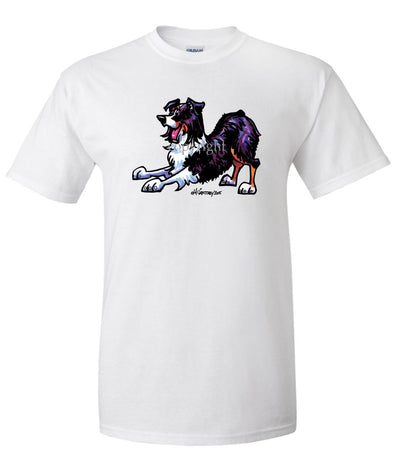 Australian Shepherd  Black Tri - Cool Dog - T-Shirt