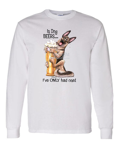German Shepherd - Dog Beers - Long Sleeve T-Shirt
