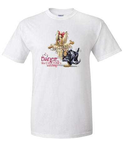 Yorkshire Terrier - Dance Like Everyones Watching - T-Shirt