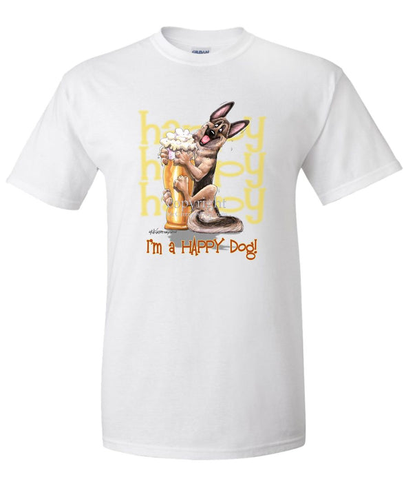 German Shepherd - 3 - Who's A Happy Dog - T-Shirt