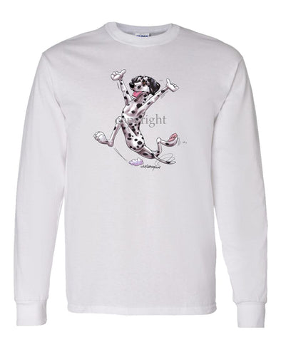 Dalmatian - Happy Dog - Long Sleeve T-Shirt