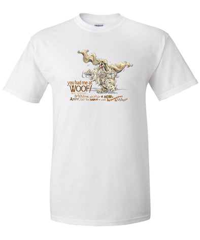 Cocker Spaniel - You Had Me at Woof - T-Shirt