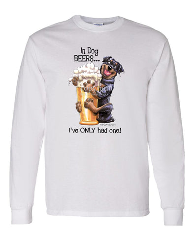 Rottweiler - Dog Beers - Long Sleeve T-Shirt
