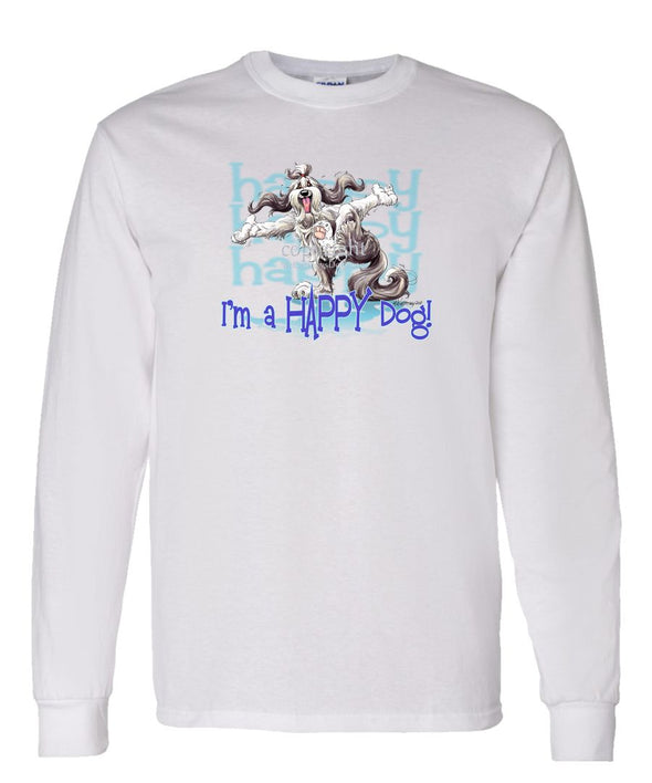 Bearded Collie - Who's A Happy Dog - Long Sleeve T-Shirt
