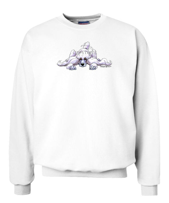 Poodle  White - Rug Dog - Sweatshirt