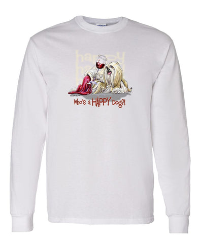 Lhasa Apso - Who's A Happy Dog - Long Sleeve T-Shirt