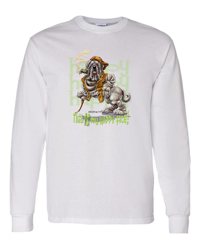 Neopolitan Mastiff - Who's A Happy Dog - Long Sleeve T-Shirt