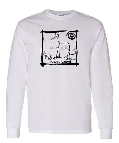 Ibizan Hound - Cavern Canine - Long Sleeve T-Shirt