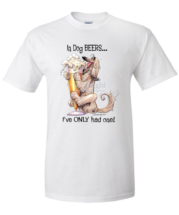 Afghan Hound - Dog Beers - T-Shirt