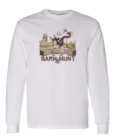 German Shepherd - Barnhunt - Long Sleeve T-Shirt