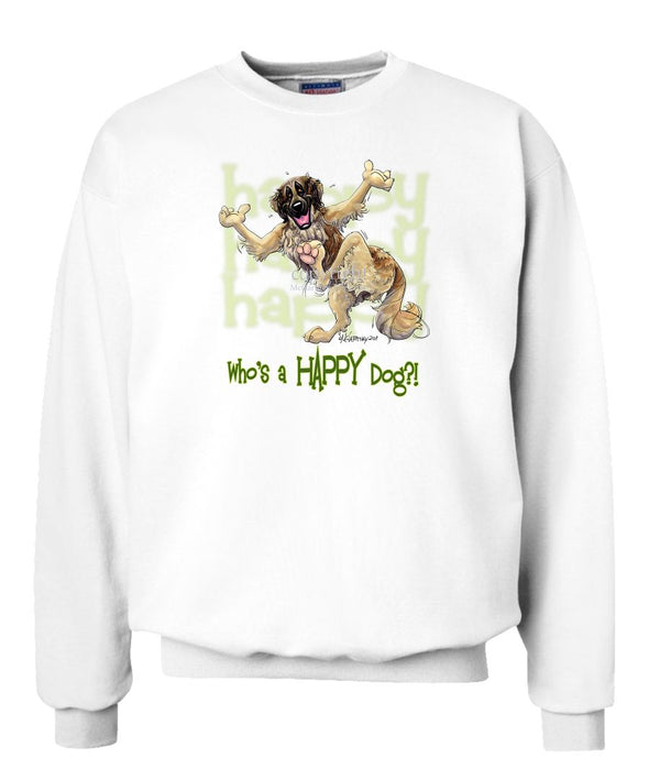 Leonberger - Who's A Happy Dog - Sweatshirt