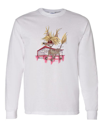 Chinese Crested - Vintage - Caricature - Long Sleeve T-Shirt