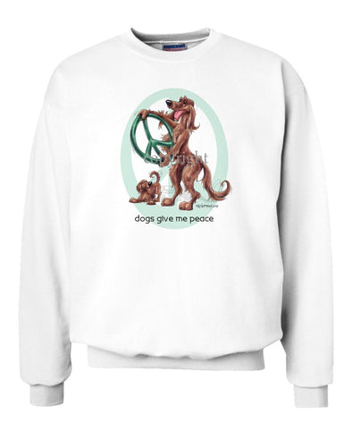 Irish Setter - Peace Dogs - Sweatshirt