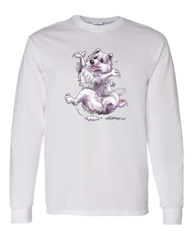 American Eskimo Dog - Happy Dog - Long Sleeve T-Shirt