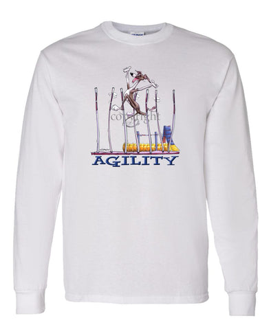 Italian Greyhound - Agility Weave II - Long Sleeve T-Shirt