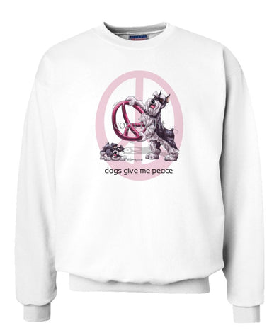 Schnauzer - Peace Dogs - Sweatshirt