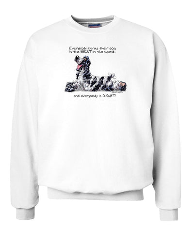 English Cocker Spaniel - Best Dog in the World - Sweatshirt