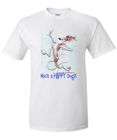 Greyhound - Who's A Happy Dog - T-Shirt