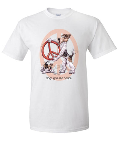 Wire Fox Terrier - Peace Dogs - T-Shirt