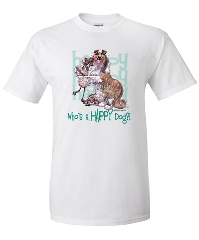 Collie - Who's A Happy Dog - T-Shirt